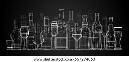 vector linear illustration of