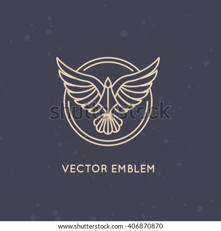 vector linear logo design