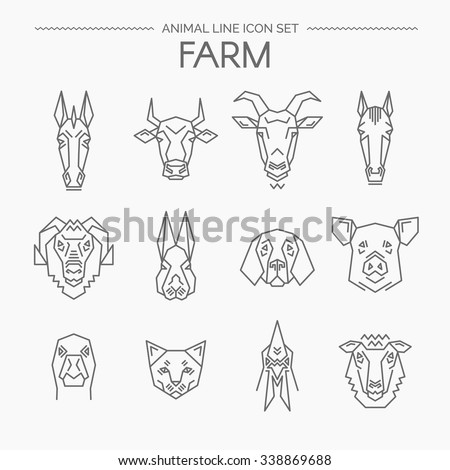 vector linear set of farm