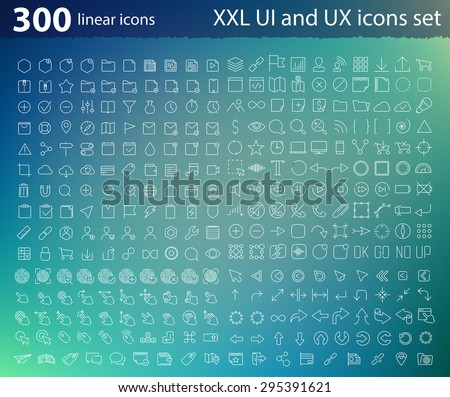 vector linear ui ux icons for
