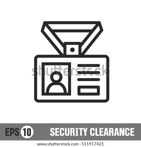 Vector lines icon icon security clearance