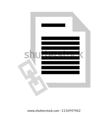 vector link document or page. share file sign symbol