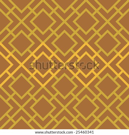 Vector Linked Squares Seamless Seventies Style Inspired Wallpaper