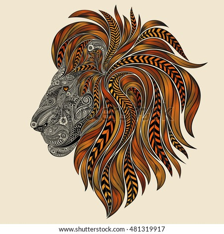 vector lion patterns with a