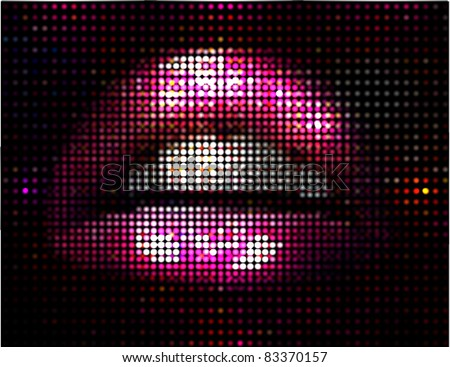 vector lips illustration
