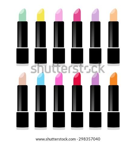 vector lipstick isolated icon