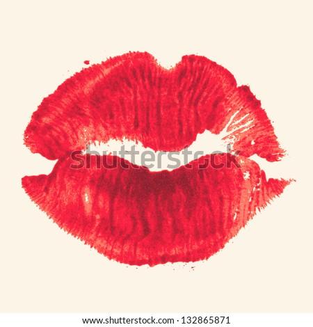 vector lipstick kiss
