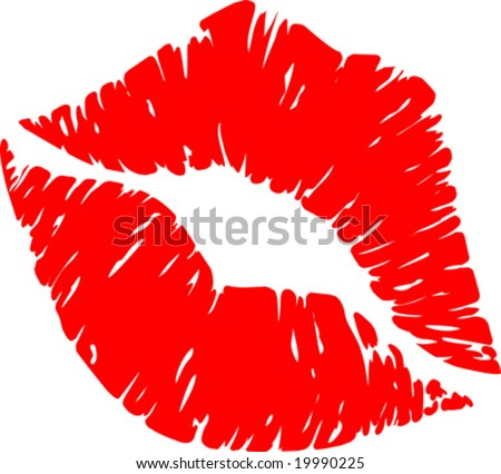 Vector Lipstick Print