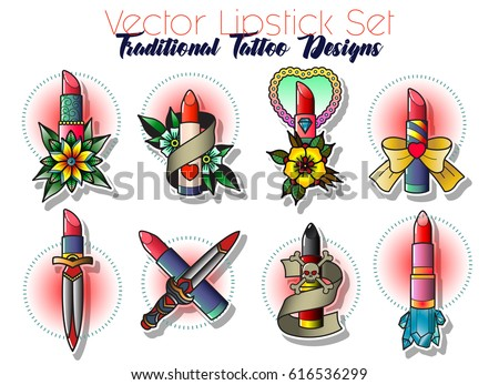 Vector Images, Illustrations and Cliparts: Vector Lipstick Set ...