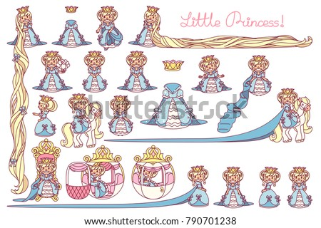 vector little princess trendy