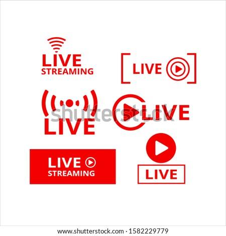 vector live video streaming logo. live video broadcast logo