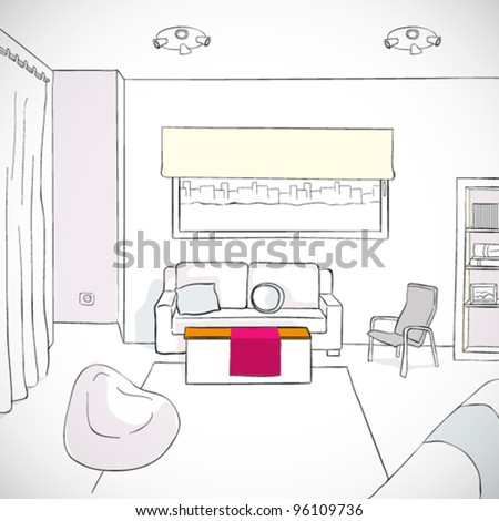 Vector Living room