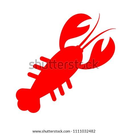 vector lobster symbol - seafood illustration sign