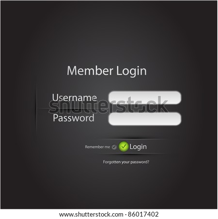 Vector login background