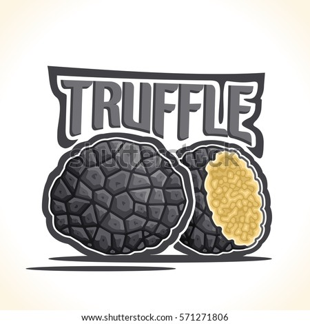 vector logo black truffle