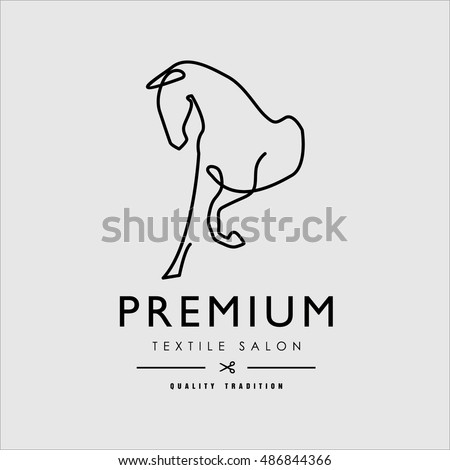 Vector. Logo depicting the silhouette of a horse. Stylized illustration.