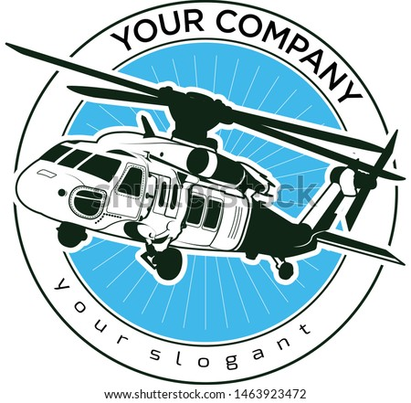 vector logo design blackhawk