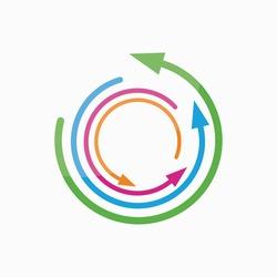 Vector logo design element. Arrow, pointer, circle