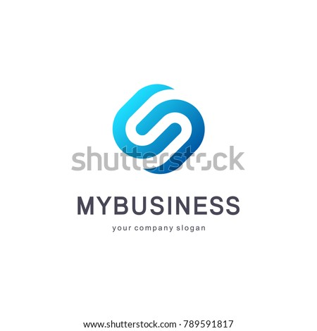 Vector logo design for business. S letter sign