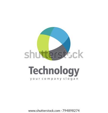 Vector logo design for business. Technology sign