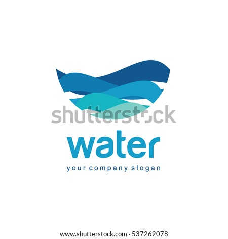 Vector logo design for water and plumbing. Water Association.