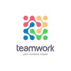 Vector logo design for your business. Team Work.