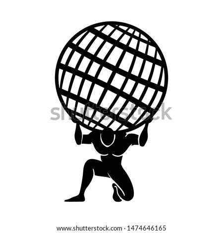 vector logo design. Greek God or Atlas God. I will sell this logo, contact me Foto stock ©