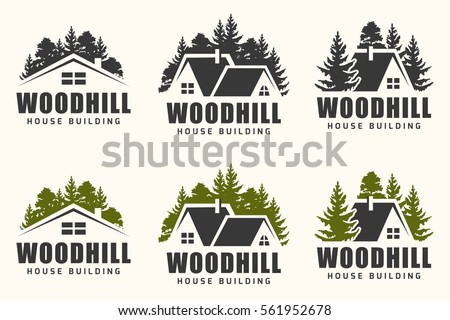 vector logo design of a trees