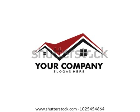 vector logo design of home real estate, hotel resort stay, house rental and mortgage
