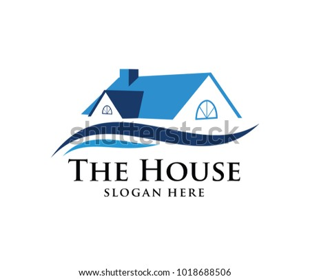 vector logo design of luxury prosperity comfy home, hotel, or real estate for property business company