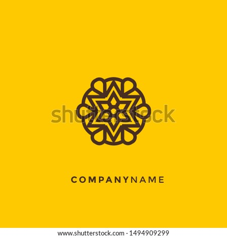 Vector logo design template and emblem. abstract symbols in ornamental arabic style. emblems for luxury products, hotels, boutiques, jewelry, oriental cosmetics, restaurants, shops and stores.