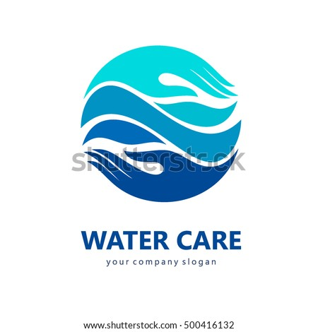 Vector logo design template water care.