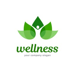 Vector logo design. Wellness and healthy