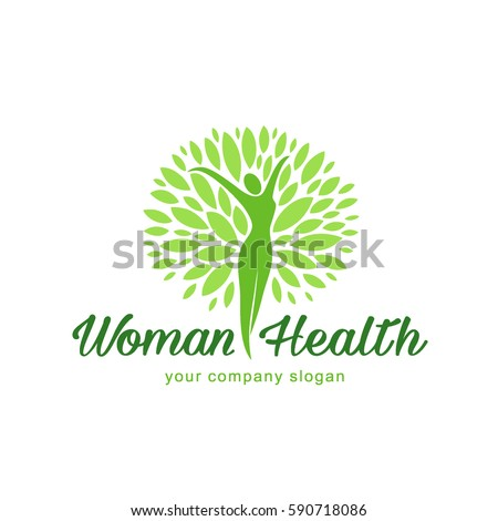 Vector logo design. Wellness and woman health