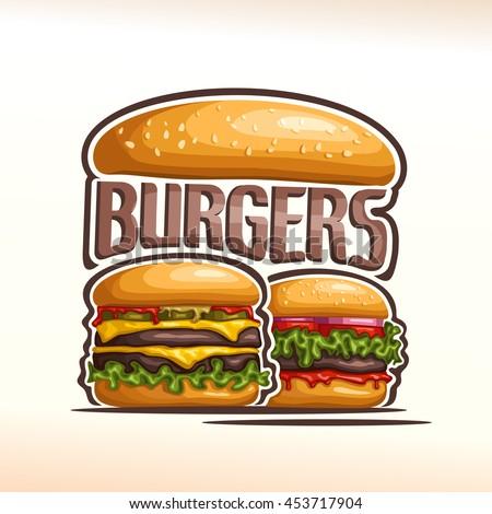 vector logo double burgers  cut