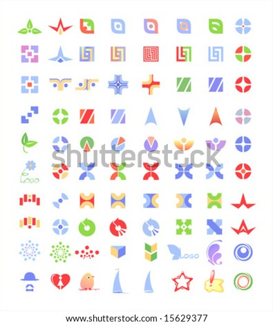 Vector logo elements - stock vector