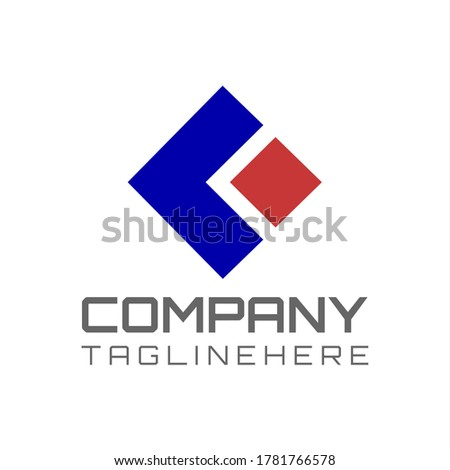 Vector logo for a flat business with arrows and squares forming the initials 'K' in a dark background. Stock fotó ©