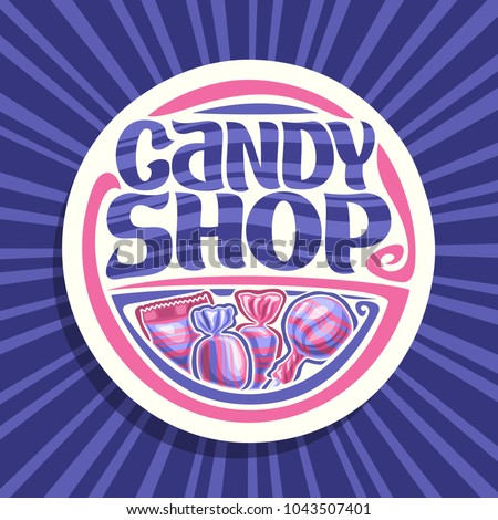 vector logo for candy shop  on