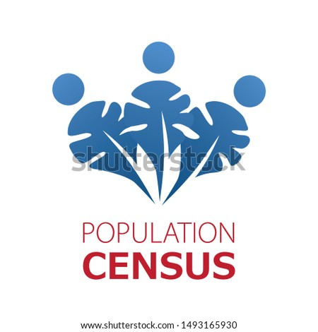 Vector logo for census, population count and demographic statistics