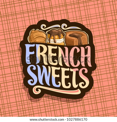 vector logo for french sweets