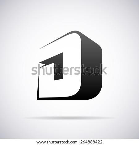 vector logo for letter d design