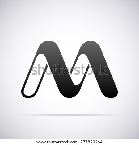 Vector logo for letter M design template