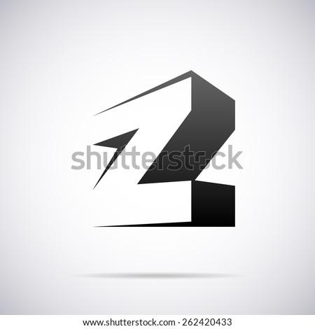 vector logo for letter z design