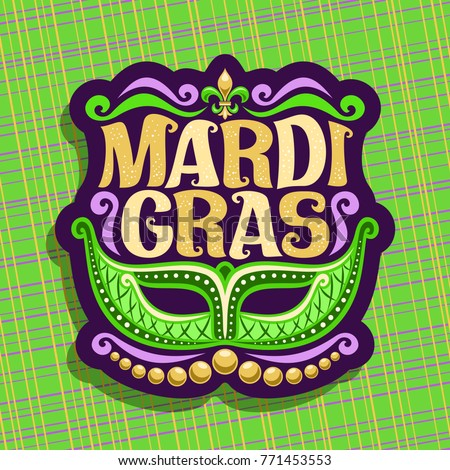 vector logo for mardi gras