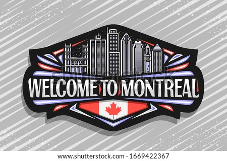 vector logo for montreal  black