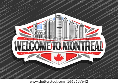 vector logo for montreal  white