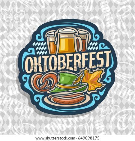 vector logo for oktoberfest on
