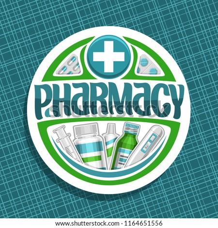 vector logo for pharmacy  cut