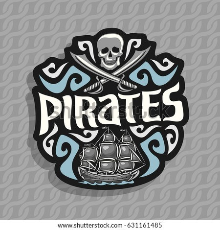 vector logo for pirate theme