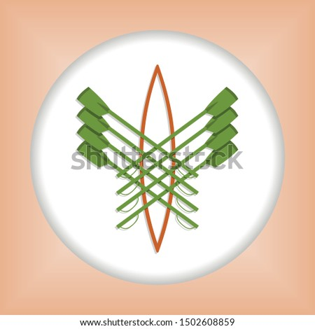 Vector logo for rowing club
